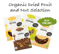 Organic fruit and nuts