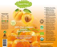 Apricot juice label